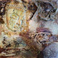 Iceno powertex schilderij buddha 3