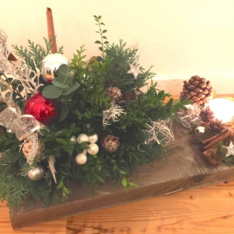Iceno kersttafelstuk op steigerhout