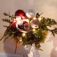 Kerststuk groot detail
