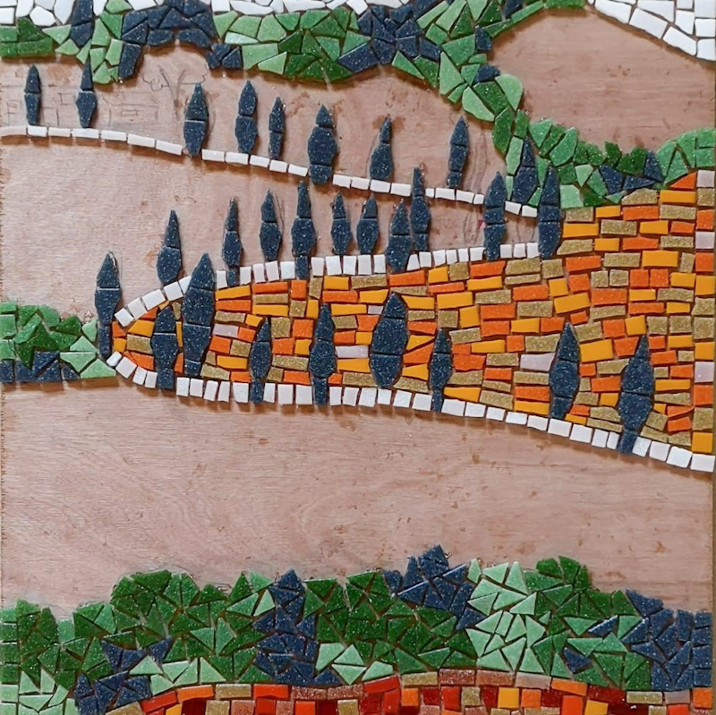 mozaiek landschap iceno